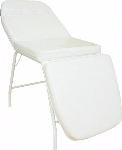cama maca para depilação e tatuador 3 posições branca