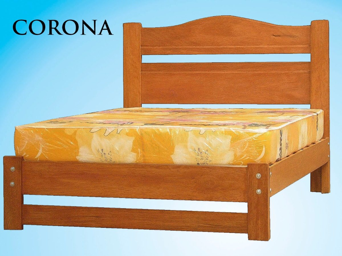 Cama madera tornillo modelo corona s 450 00 en mercado - Modelo de camas ...