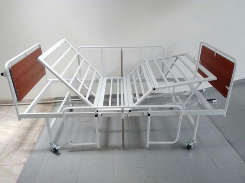 cama manual hospitalaria de tres planos