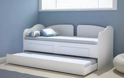Sofa cama marinera con cama auxiliar 1 plaza 2 cajones for Sofa cama 2 plazas nuevos