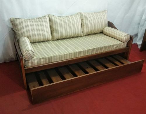 cama marinera con colchón y almohadones - ombú muebles