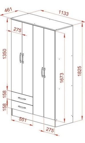 cama marinera cucheta triliche + placard 4 puertas 2 cajones