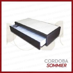 Cama Marinera Cuerina C/colchón Abajo 90 X 190 Cm. Sofart