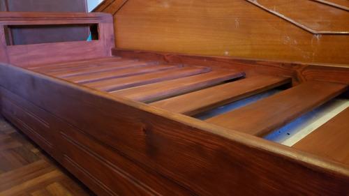 cama marinera de madera maciza