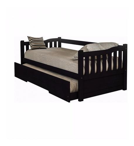 cama marinera madera blanca miel tabaco 1 plaza  mi casa