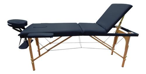 cama masaje portatil 3 secciones madera camilla spa estuche