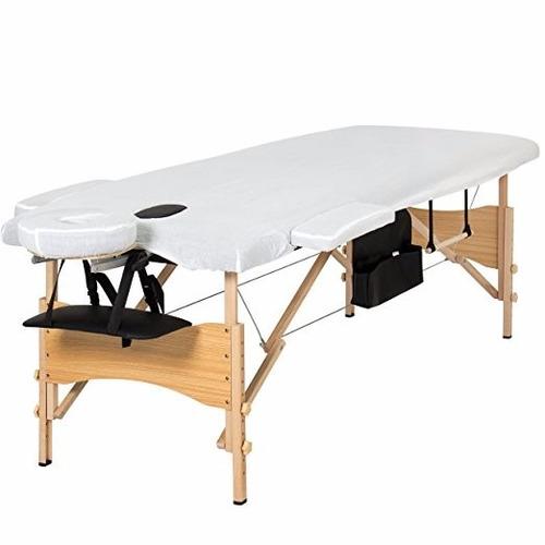 cama masaje portatil best choice products tri-folding black