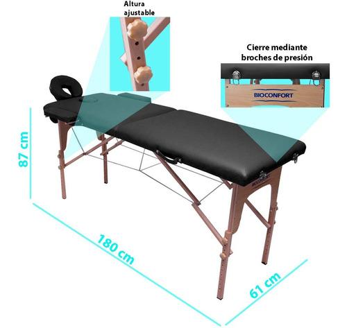 cama masajes portatil aditamento plegable resistente funda
