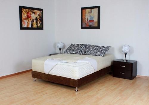 cama matrimonial 140 dividida box spring flex dual - oferta