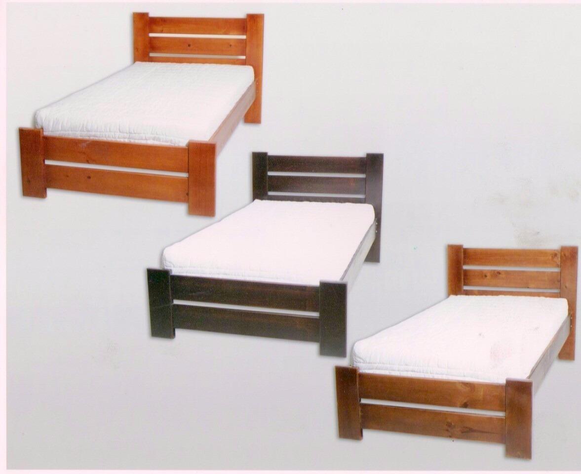 Asombroso Cama De Madera Individual Con Muebles De Almacenamiento ...