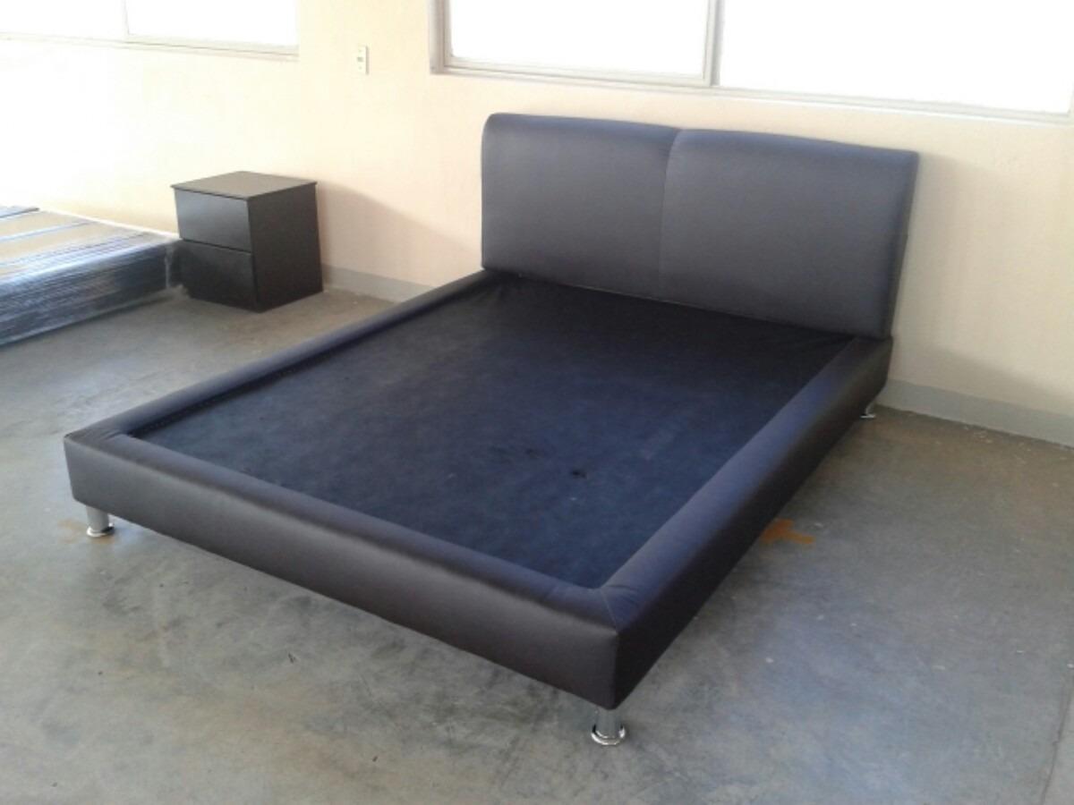 Cama matrimonial base y cabecera recamara minimalista ks for Base para cama matrimonial minimalista