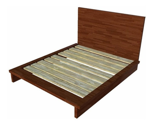 cama matrimonial berlín pino cabecera - madera viva