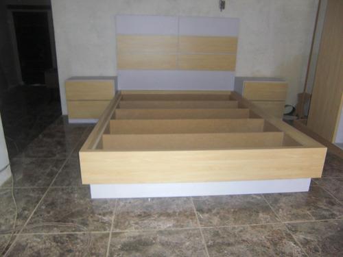 cama matrimonial copete gigante súper reforzadas  100% mdf