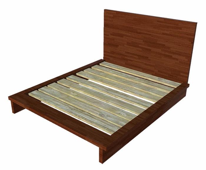 Cama matrimonial de madera con cabecera incluida for Cama matrimonial precio