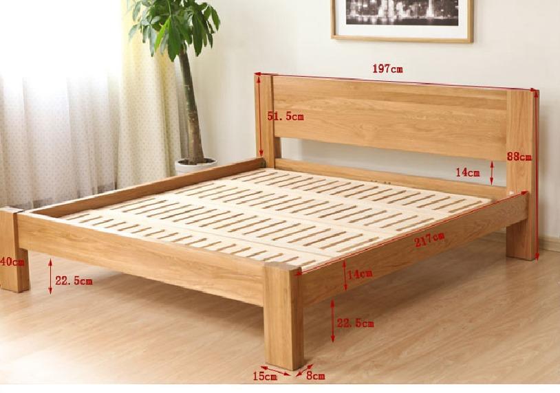 Cama matrimonial de madera modelo cm m 002 bs 571 for Camas matrimoniales en madera