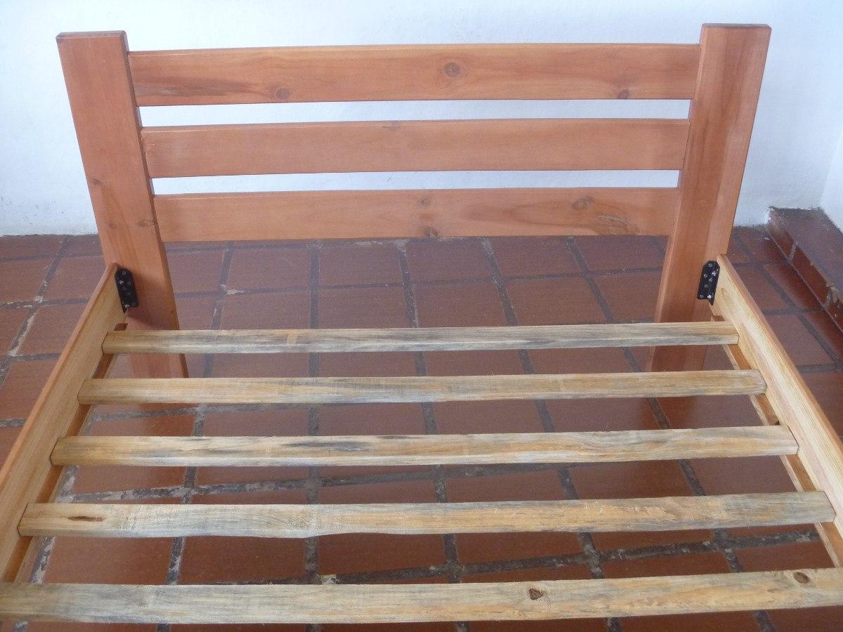 Cama matrimonial de madera nueva bs en for Medidas de cama matrimonial