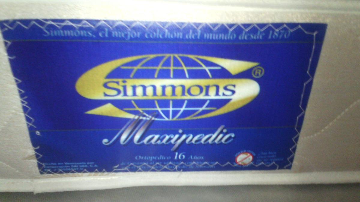 Cama Matrimonial King. Marca Simmons Y Boxpring . - Bs. 950.000,00 ...