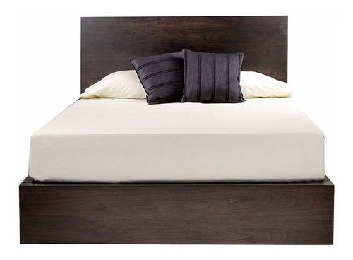 cama matrimonial london cabecera cajones - madera viva