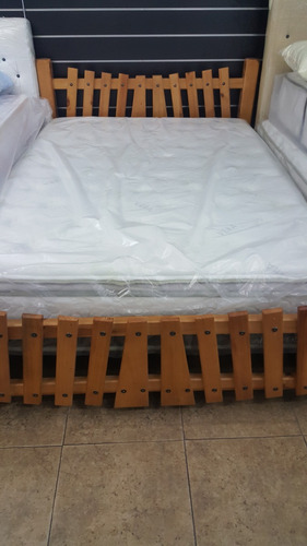 cama matrimonial marca garci 100% madera de pino