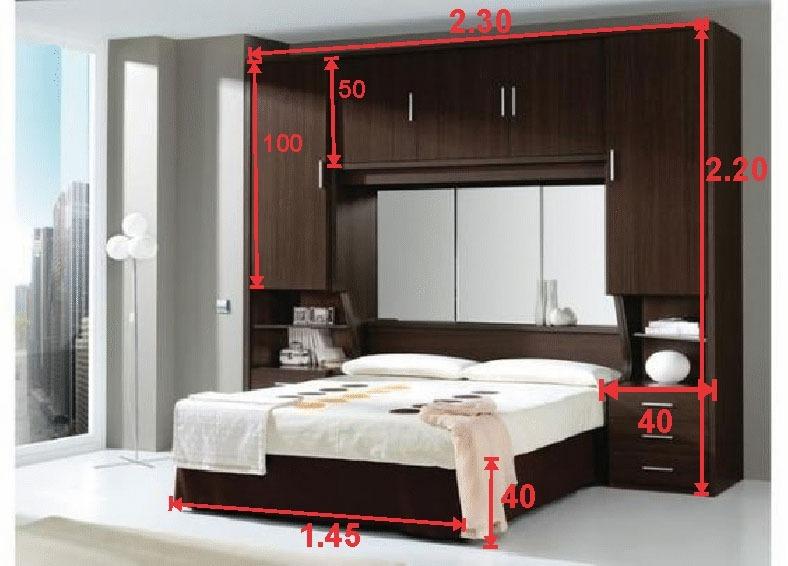 Cama matrimonial moderna modular espacios peque os credito bs en mercado libre - Muebles para dormitorios pequenos matrimoniales ...