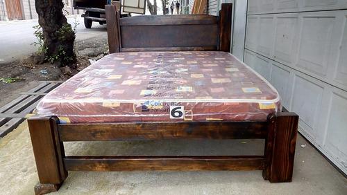cama matrimonial nueva de madera modelo montaña
