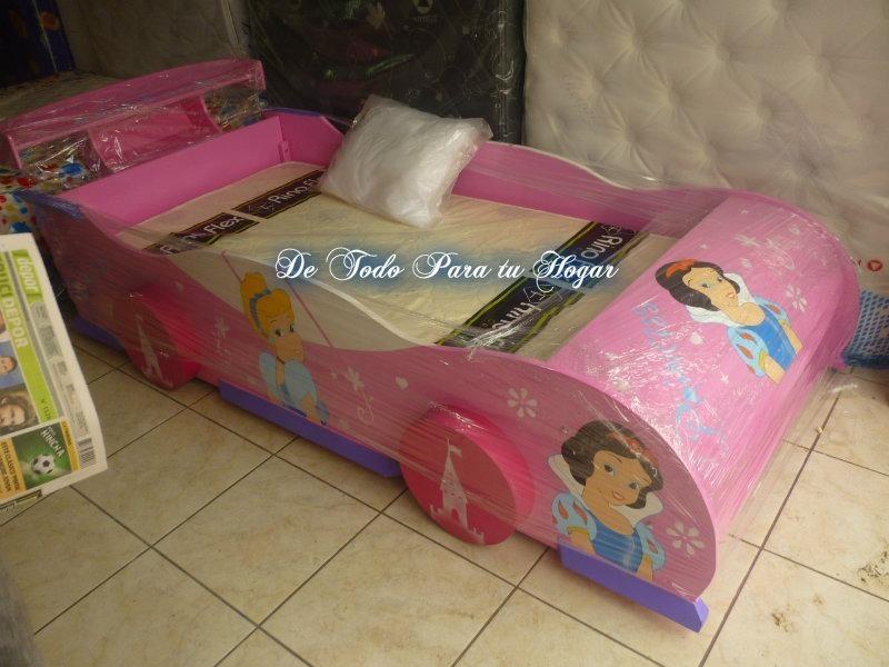 Cama modelo carro plaza y media modelos variados ni o y - Cama nina princesa ...