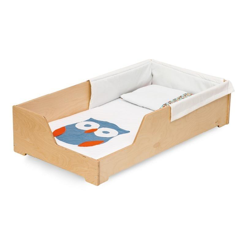 Cama montessoriana mdf pintura em branco mini 155x75 r for Mobili montessori