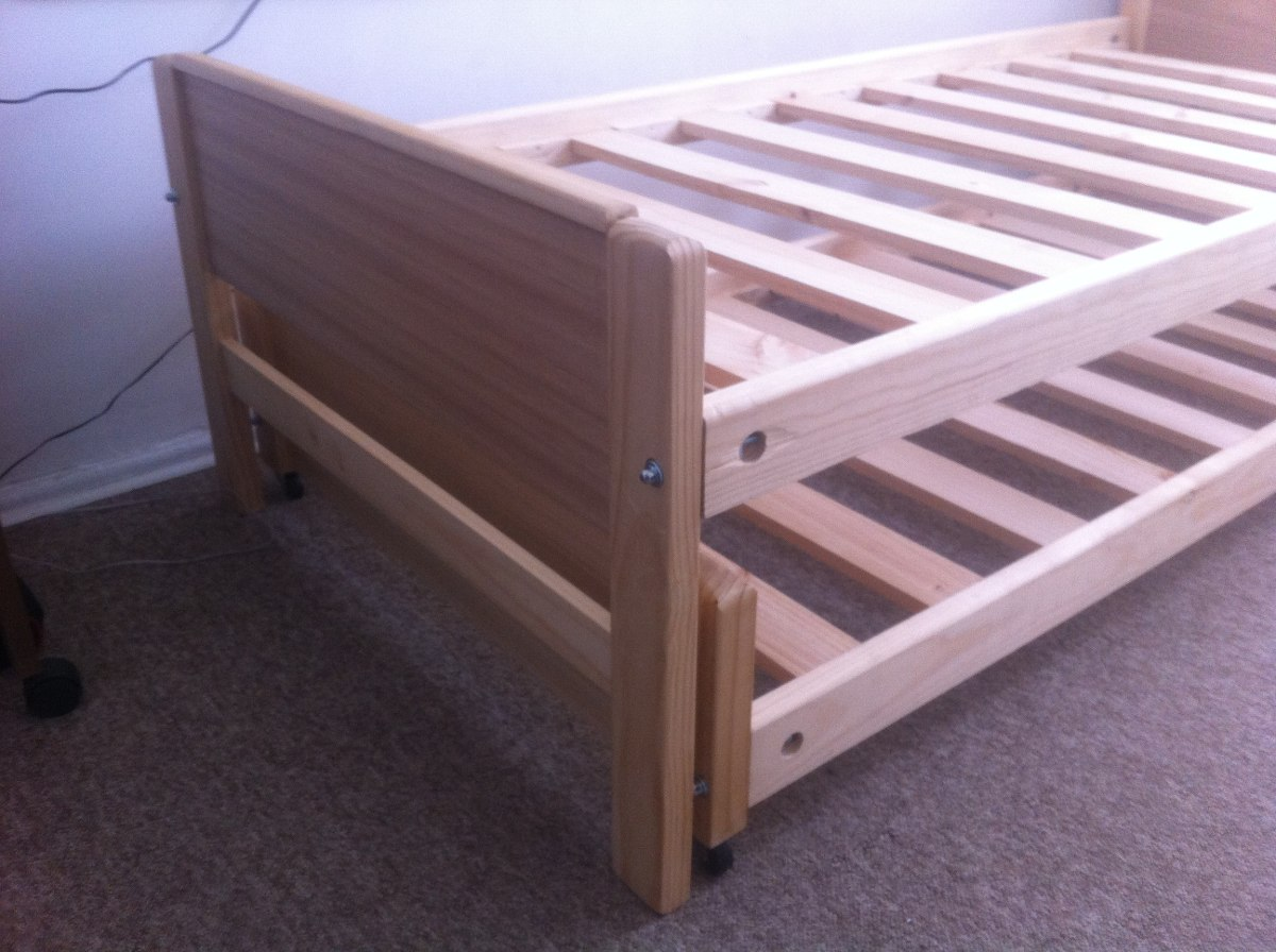 Cama nido 1 plaza madera barnizada somos fabricantes for Futon cama 1 plaza y media
