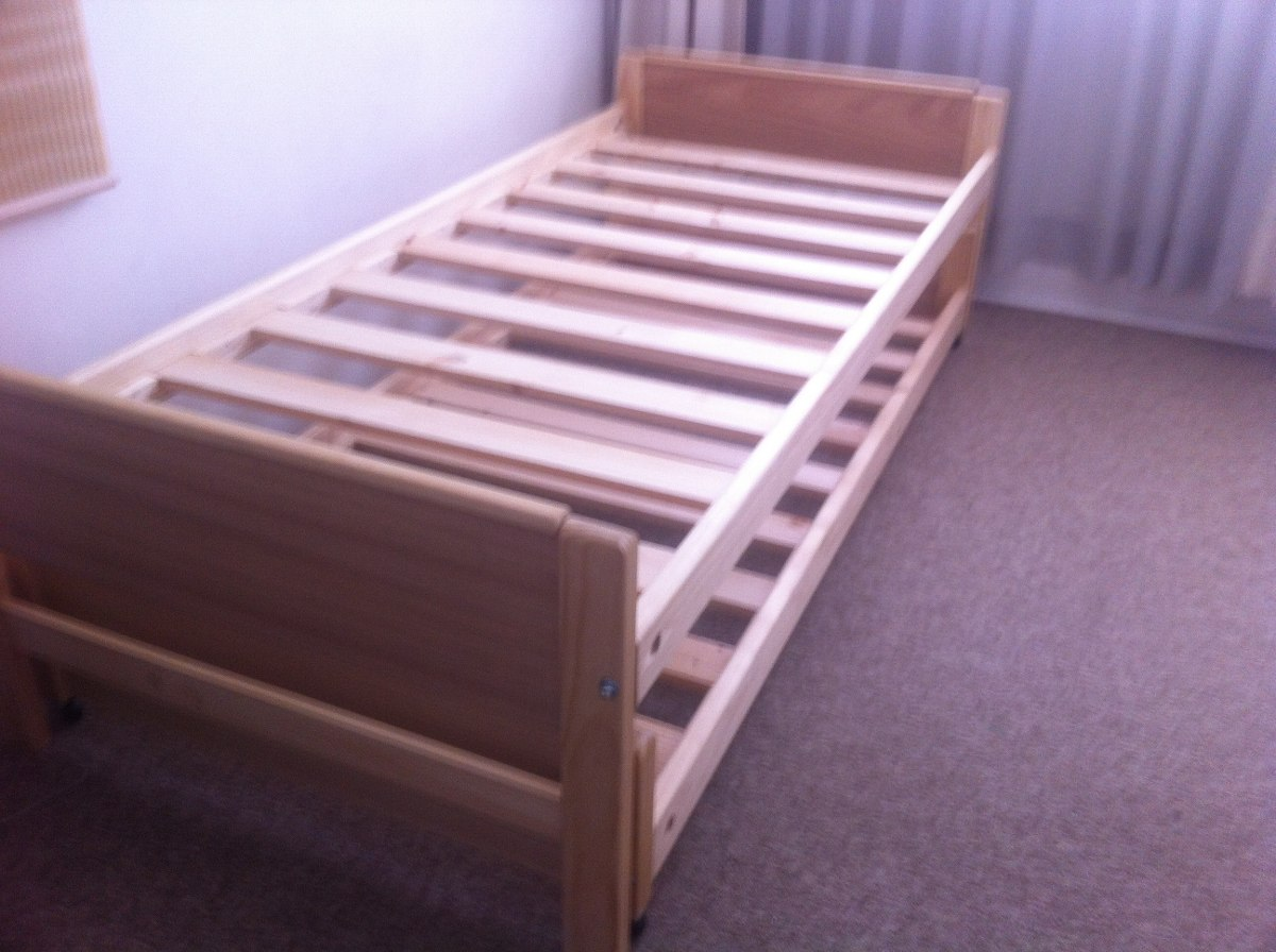 Cama nido 1 plaza madera barnizada somos fabricantes for Futon cama plaza y media