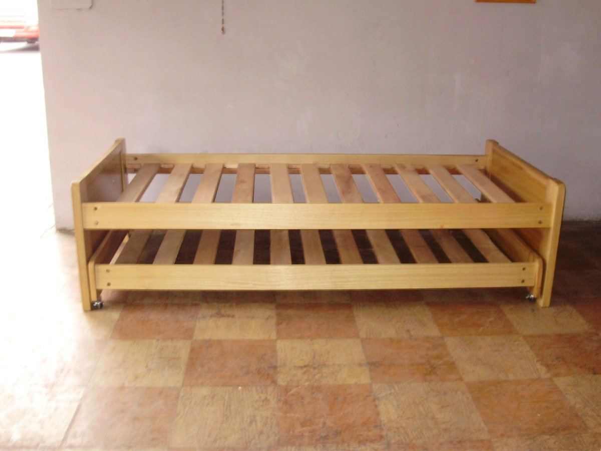 Cama nido 1pl sin cajones en mercado libre for Cama nido completa
