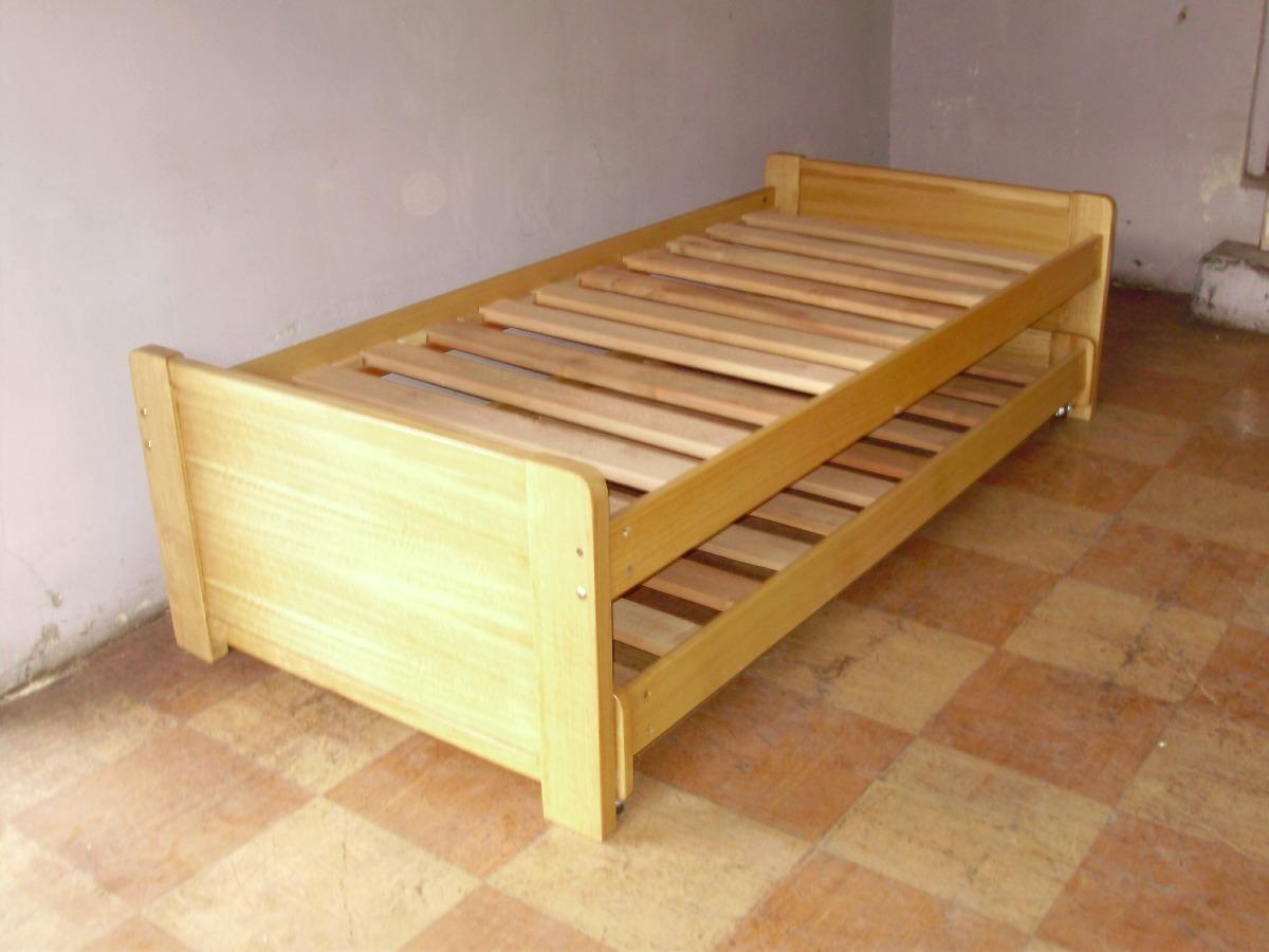 Cama nido 1pl sin cajones en mercado libre for Cama nido de tres camas
