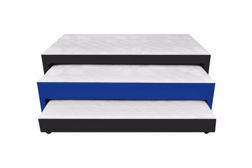 cama nido 3 niveles140x190+colchones aux+almohadas+envio btá
