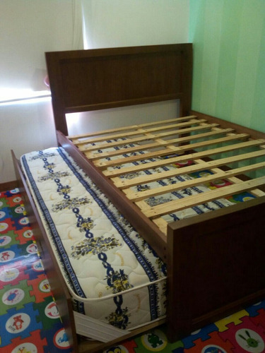 cama nido-auxiliar madera tratada 1 1/2 y 2 plazas