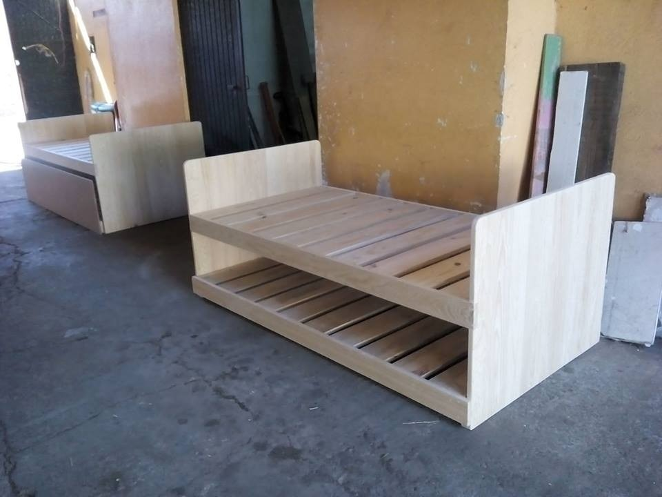 Cama nido cama doble cama individual juvenil infantil vbf for Como hacer una base de cama