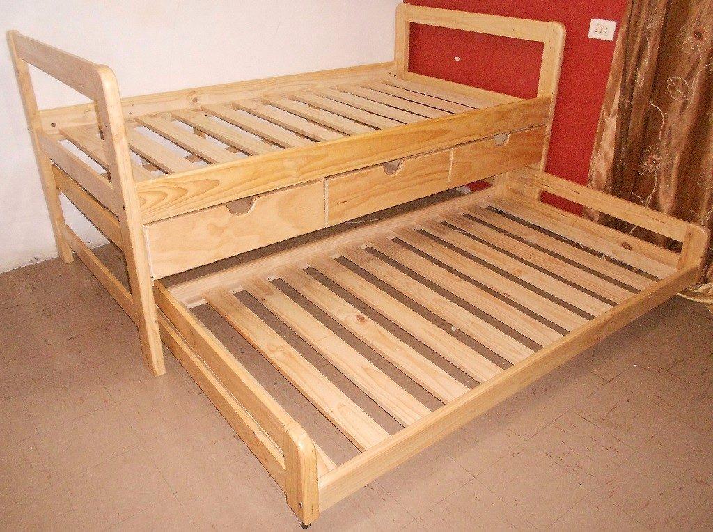Cama nido con cajones 1 plaza en mercado libre for Cama nido 105 con cajones