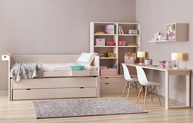 Cama nido con modulos de juguetero a los lados 12 840 - Muebles en dos hermanas ...