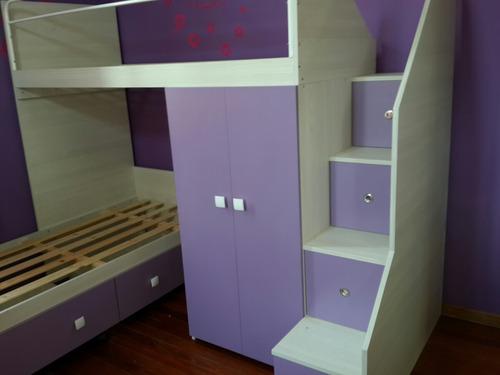 cama nido cucheta tren infantil juvenil (todo incluido)