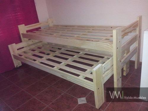 cama nido de pino laqueado blanco o negro