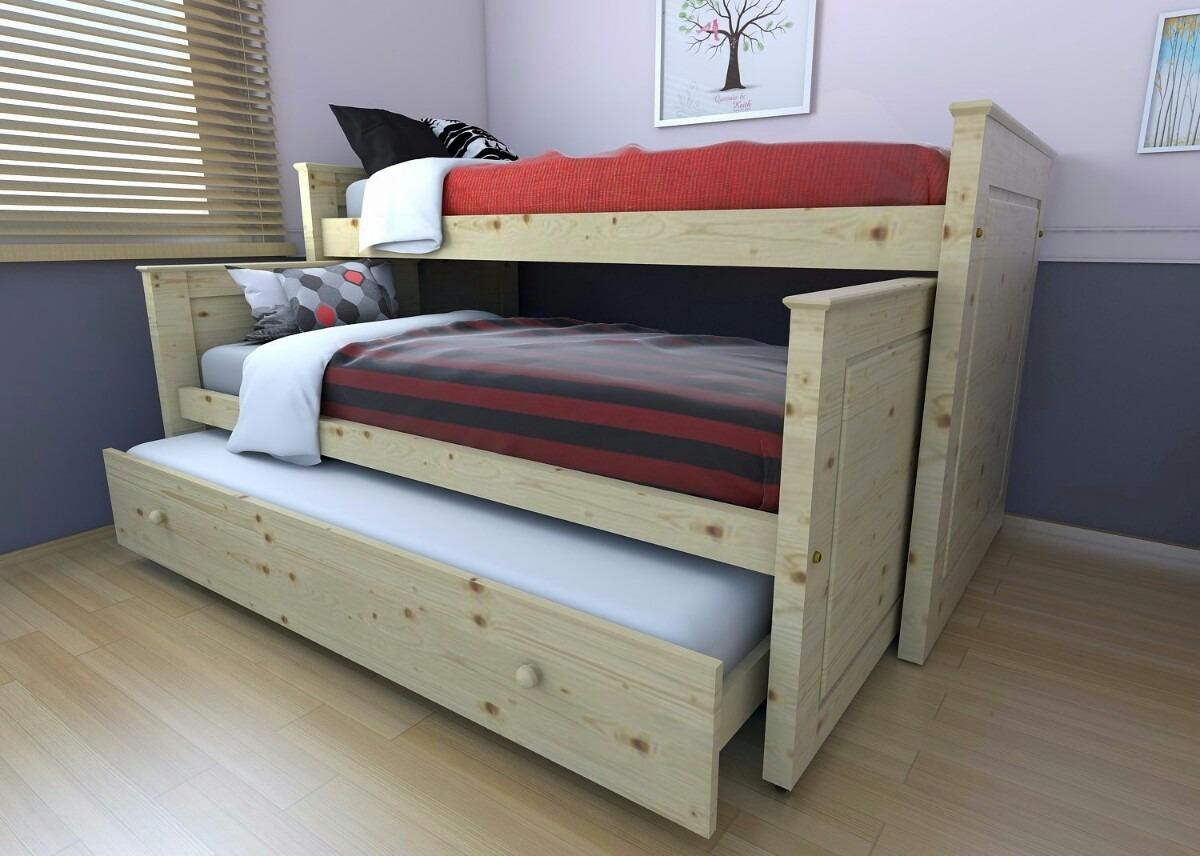 Cama nido 105 x 190 somier de rete con asiento de cincha for Camas de 105 con cajones
