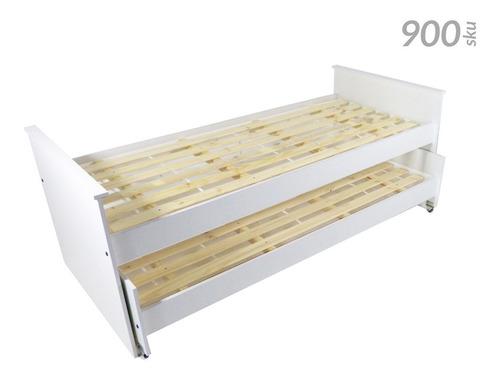 cama nido doble con carro cama 1 plaza (80 cm) de melamina reforzada - 900