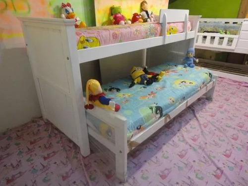 cama nido doble en blanco pata gruesa reforzada resistente