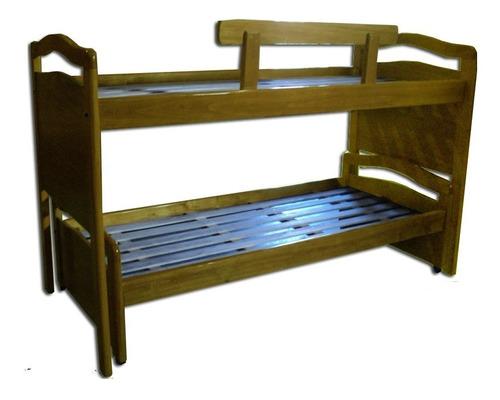 cama nido doble en madera maciza. niños y adultos. ideal.