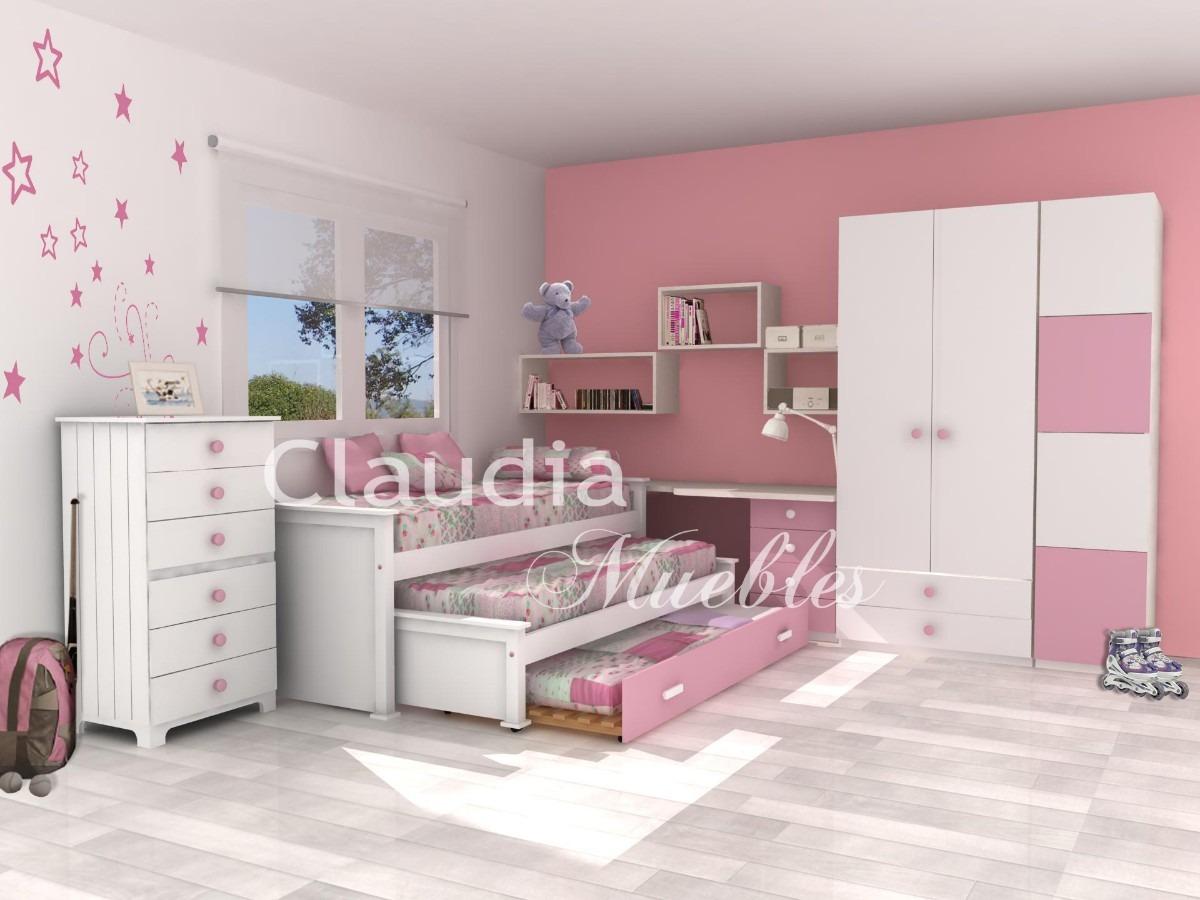 Cama Nido Doble Laqueada Blanca Claudia Muebles - $ 10.285,00 en ...