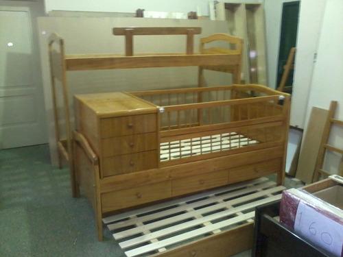 cama nido funcional con cajones y carro cama mas baulera