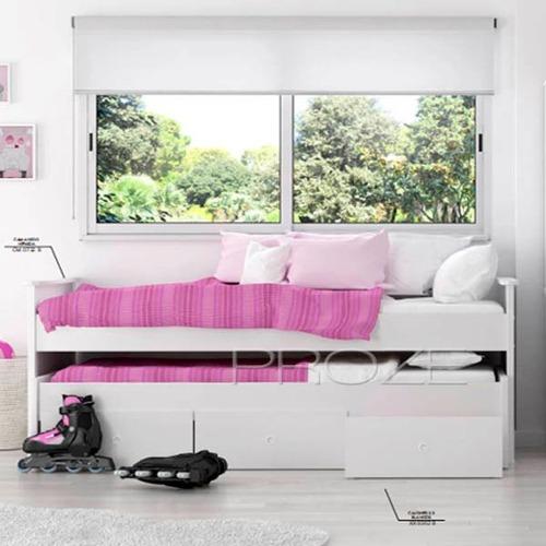 cama nido laqueda con cajones directo de fabrica