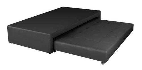 cama nido pullman junior semidoble - cuero sintético