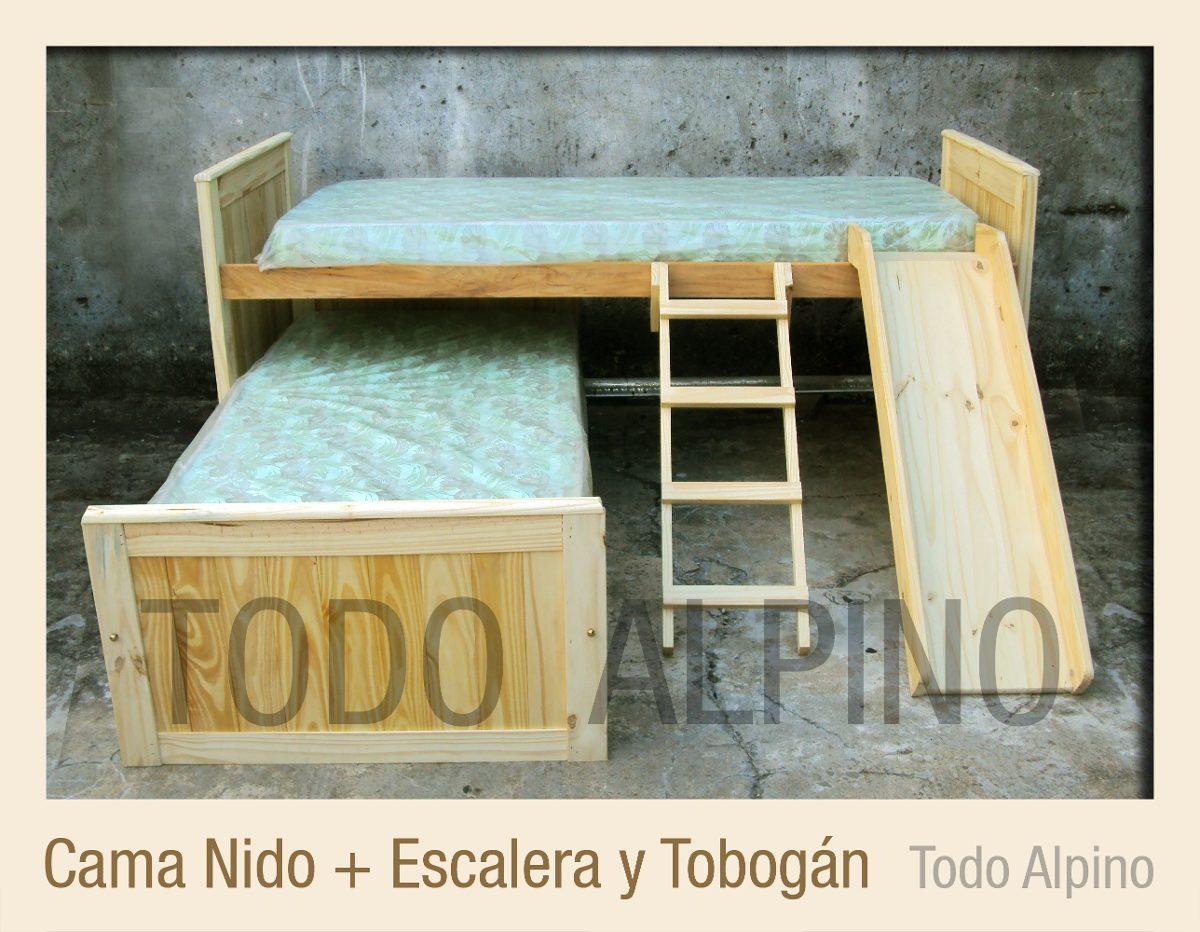 Cama Nido X2 Pino Misionero Todo Alpino Muebles 2 200 00 En  # Muebles Todo Pino