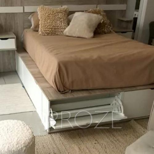 cama nordica 2 plazas cajonera botinero multifuncion 180/200