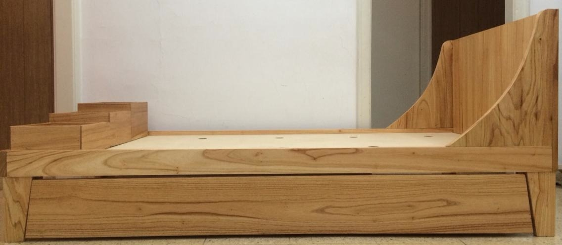 Cama de madera cama de madera con cabecera modelo london perspectiva bonito diseo cama madera - Cama de diseno ...