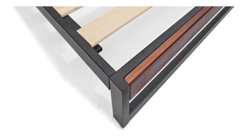 cama nuevo léon metal, color chocolate, queen